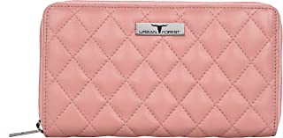 Urban Forest Grace Quilted Rose Pink Leather Wallet/Clutch for Women
