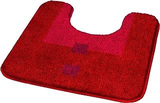 Kleine Wolke Maison Granat Red Contour Bath Rug Bath Mat 20x20in. (50x50cm.)