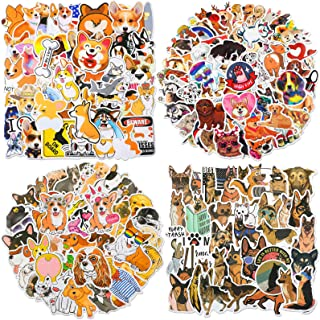 Zonon 230 Pieces Cute Dog Vinyl Stickers Mixed Pet Laptop Stickers Waterproof for Water Bottles Funny Cartoon Animals Deca...