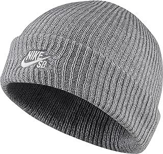 Mens SB Fisherman Black/White Beanie Hat 628684-011, One Size
