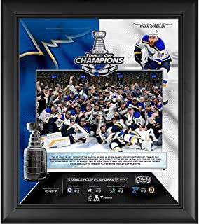 """St. Louis Blues 2019 Stanley Cup Champions Framed 15"""" x 17"""" Collage - NHL Team Plaques and Collages"""