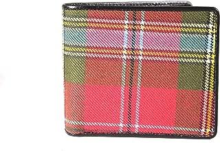 Kilter 100% Scottish Tartan & Real Leather Mens Wallet - MacLean of Duart Weathered