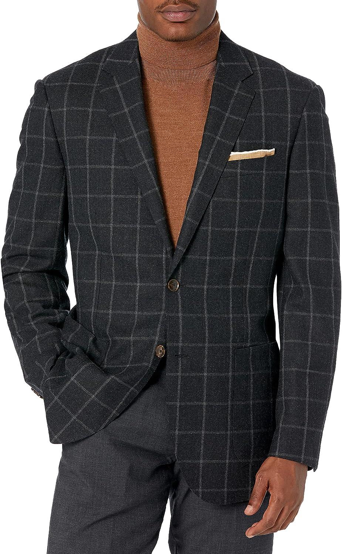 Amazon Brand - Buttoned Down Men's Classic Fit Italian Wool Windowpane Sport Coat
