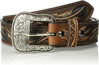 Men's Feather Embosed Belt