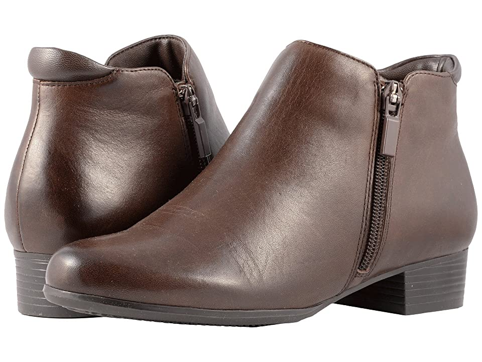 Trotters Major (Dark Brown Smooth Leather) Women