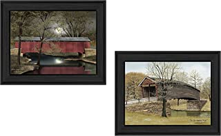 Trendy Decor4U Bridges Collection By Billy Jacobs Printed Wall Art, 18 Inch x 14 Inch, 2 Piece