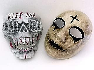 MASQSTUDIO The Purge Cross KISS ME Mask Pair Anarchy Purge Men and Women Boys Girls Horror Purge Killer Masked Men Halloween Costume Party