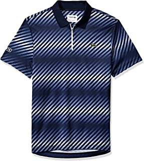 Lacoste Men's Sport Short Sleeve Ultra Dry Sublimated All Over Print Polo