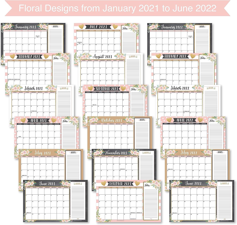 Utk Calendar 2022.Office School Supplies Large Monthly Wall Planner 18 Month Academic Desktop Calendar Or Fridge Planning Blotter Pad Gold Pink Chalk Floral 2021 2022 Desk Calendar Notes Section Teachers Family Business Office 11x17