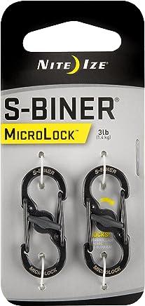 Nite Ize LSBM-01-2R3 S-Biner MicroLock Stainless Steel, 2-Pack, Black