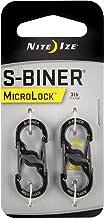 NITEIZE(ナイトアイズ) エスビナー マイクロロック S字 カラビナ サイズ#0  2個1組 ロック機能付き キーホルダー 鍵 (日本正規品)