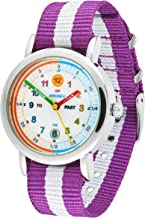 Amonev Time Teacher Watch its Blue and White Strap Colorful Easy to Read dial is The Perfect Kids Watch