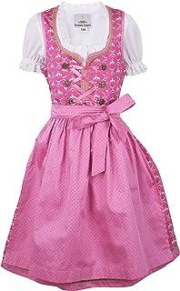 Ramona Lippert Kinderdirndl Lia, Pink Rosa - 3-teiliges Trachtenkleid Dirndl für Mädchen
