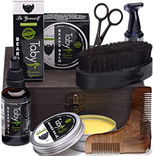 balm Beard Oil brush And Comb Kit For Men-beard Care Gift Set With Organic Ingredients Mustache Moisturizing Wax Set 3 Pcs