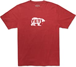 YETI Men's Triblend Salmon on The Fly T-Shirt, Short Sleeve