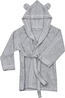 Natemia Extra Soft Hooded Bathrobe for Kids   Highly Absorbent, Plush, Rayon from Bamboo Baby Bath Robe   for Girls,Toddlers, Newborns & Infants   Great Baby Shower/Registry Gift