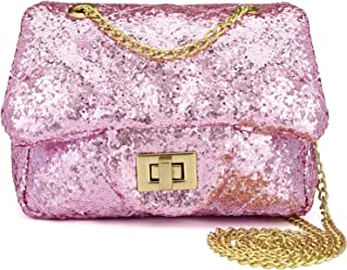 Sparkly Glitter Toddler Kids Purse for Girls Quilted Little Girl Purses