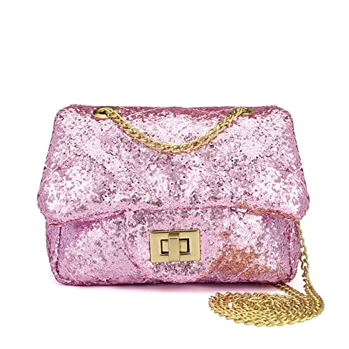 e3c3ee2325 CMK Trendy Kids Sparkly Glitter Toddler Kids Purse for Girls Quilted Little  Girl Purses