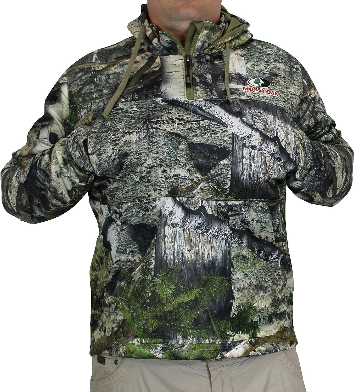 EHG Elite Mossy Oak Teton 3 Pocket Quarter Zip Technical Camo Hoodie