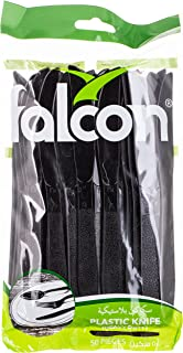 Falcon Plactic Knife Black 50pcs