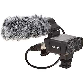 w//Multi-Interface Adapter Shotgun Microphone with Windscreen /& Dead Cat Muff for Sony Alpha A3000 Stereo