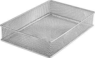 YBM HOME Silver Mesh Drawer Cabinet and or Shelf Organizer Bins, School Supply Holder Office Desktop Organizer Basket 1590s (1, 6x9x2 Inch)