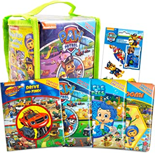 Nickelodeon Look and Find Books Set Kids Toddlers Bundle ~ Set of 4 Activity Books in Carrying Case with Stickers (Paw Pat...