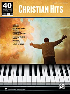 40 Sheet Music Bestsellers - Christian Hits: Piano/Vocal/Guitar Sheet Music Songbook Collection