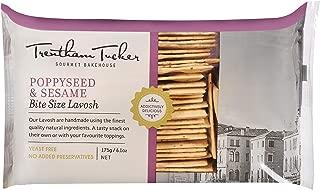 Trentham Tucker Lavosh Poppy and Sesame Bite Crispbread in Cello Pack, 175 g, Poppy and Sesame