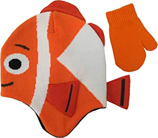 Disney Finding Dory Nemo Hat and Mitten Set - Size 2-4 Years