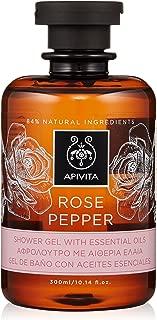 Apivita Rose Pepper Shower Gel with Essential Oils 300ml/10.14oz