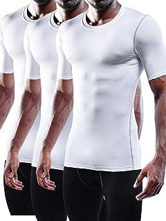 Men's 3 Pack Athletic Compression Under Base Layer Sport Shirt
