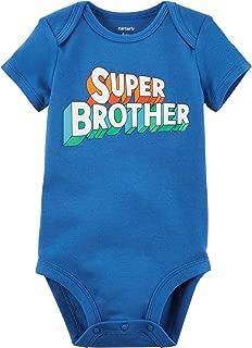 Carter's Baby Boys' Super Duper Little Bro Collectible Bodysuit
