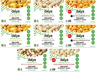 Daiya Cheezy Mac, Variety Pack with 5 Flavors :: Rich & Creamy Plant-Based Mac & Cheese :: Deliciously Dairy Free, Vegan, ...