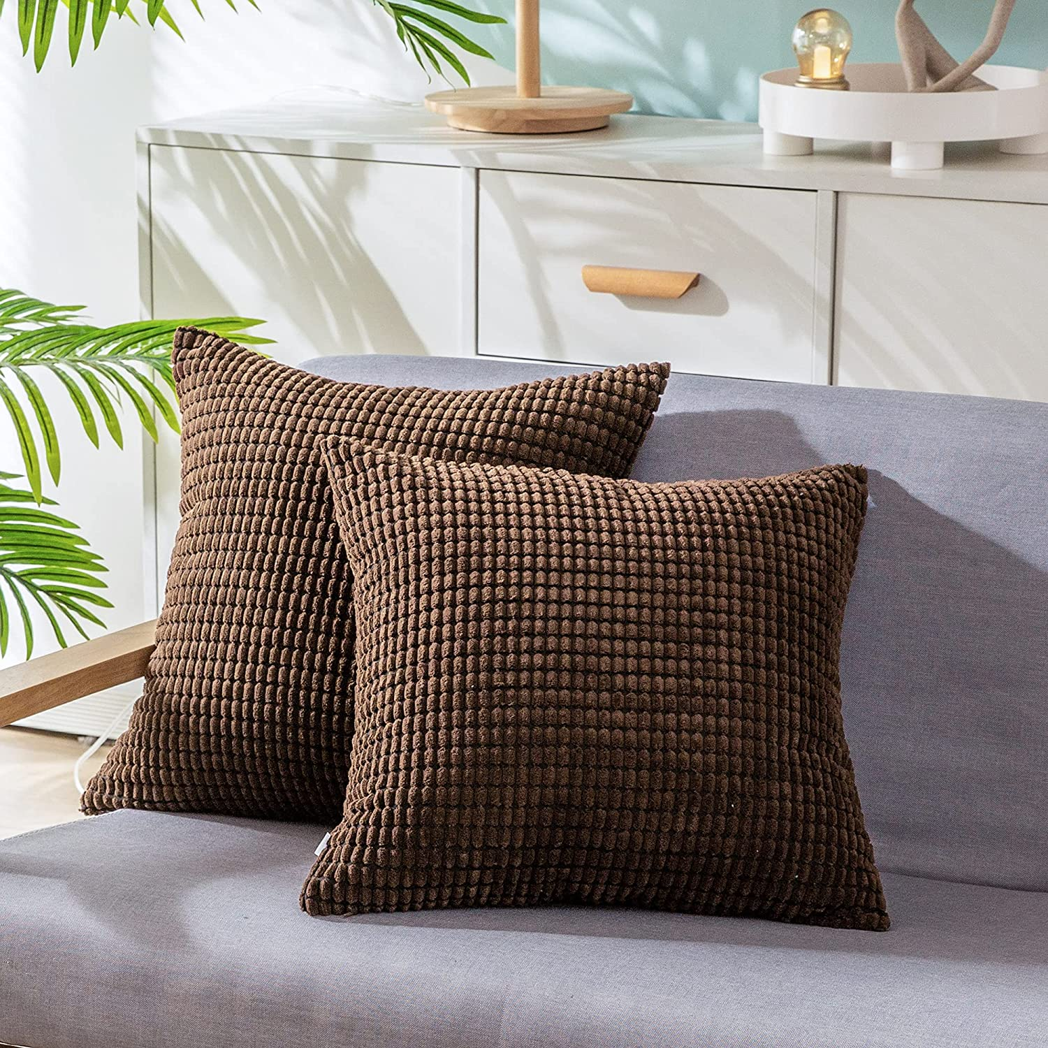 CaliTime Pack of 2 New mail order Comfy Throw Pillow Don't miss the campaign Cases Covers for Sof Couch