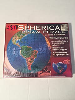 3D Spherical Jigsaw Puzzle World Globe 530 Pieces by BV Leisure