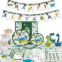 Lemonade Parade - Dinosaur Party Supplies – Dinosaur Decorations for Birthday Party - Serve 16 - Dinosaur Plates - Dinosau...