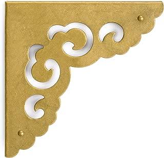CBH Brass Ocean Wave Corner Plate Hardware 3.1