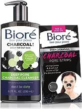 Bioré Deep Pore Charcoal Cleanser for Oily Skin (6.77oz) + One Bioré Deep Cleansing Charcoal Pore Strip for Nose