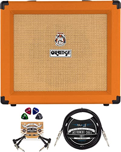 wholesale Orange Amps Crush 35RT 35W 1x10 Guitar Combo Amplifier (Orange) Bundle with Blucoil 10-FT Straight outlet online sale Instrument Cable (1/4in), 2-Pack of Pedal sale Patch Cables, and 4-Pack of Celluloid Guitar Picks outlet sale