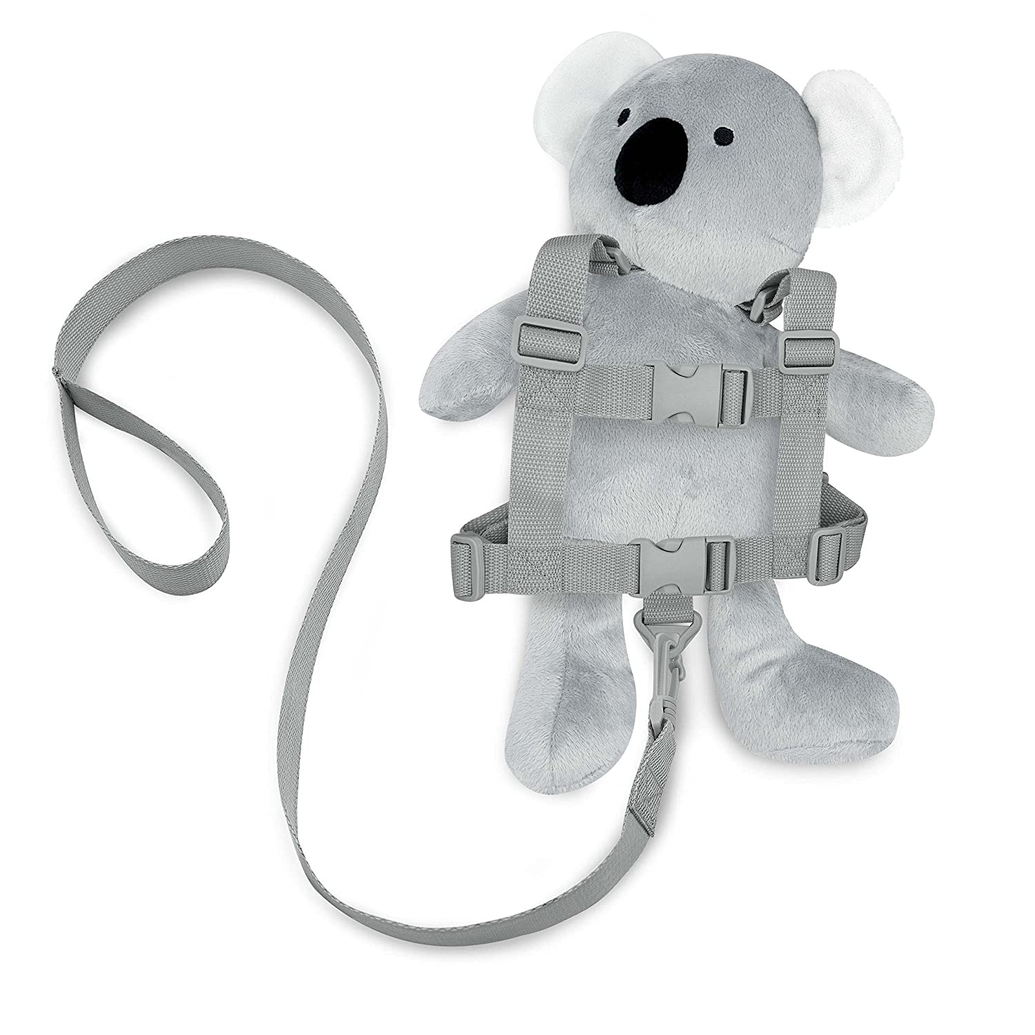 Travel Bug Toddler Character 2-in-1 Safety Harness (Koala - Grey/White)
