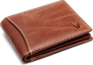 WildHorn Genuine Tan Crunch Men's Leather Wallet