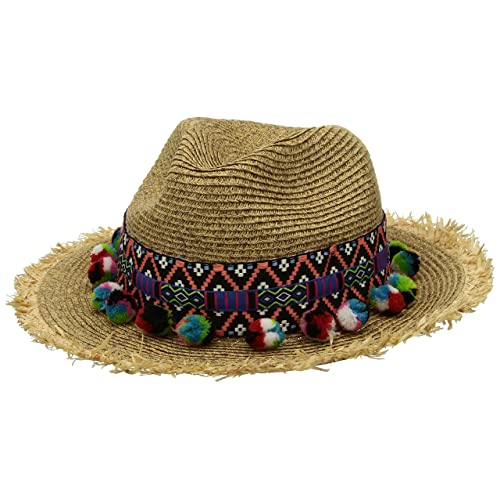 San Diego Hat Company Womens UBF1111 Fedora With Multicolor Pom cd7c4e3eb65d