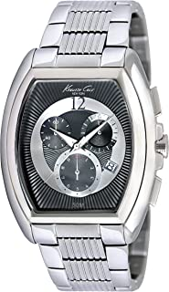 Kenneth Cole New York Men's KC9164 Classic Barrel Case Grey and Silver Dial Watch