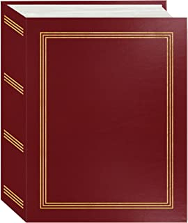 "Pioneer Photo Albums A4-100 Burgundy Red Photo Album, 100 Pockets 4""x6"""