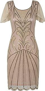 Women's Flapper Dress 1920s Vintage Bead Deco Inspired Cocktail Gatsby Dress