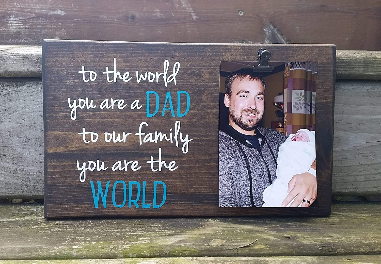 To the World you are a our Gorgeous but DAD to WORLD. family quality assurance