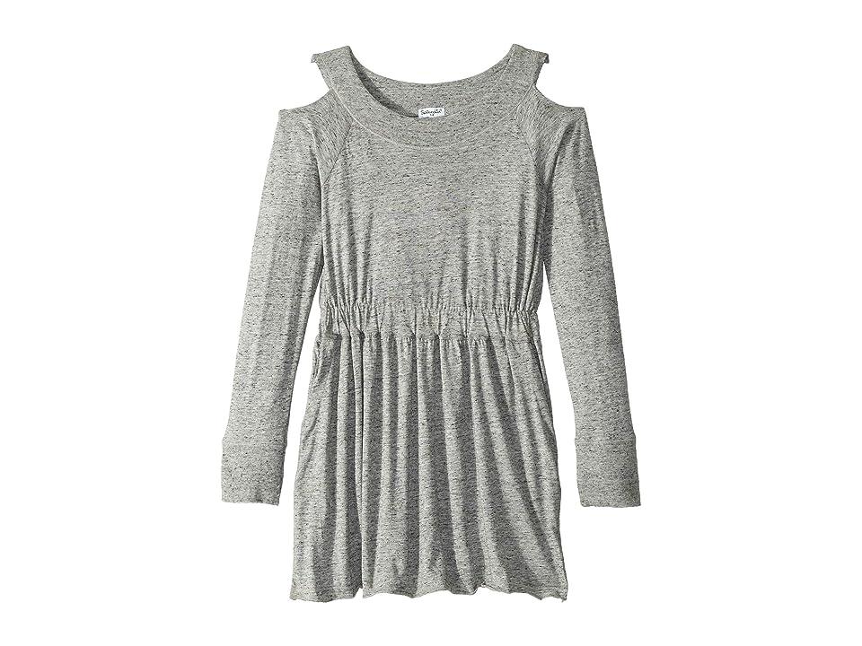 Splendid Littles Cold Shoulder Dress (Big Kids) (Marled Grey) Girl