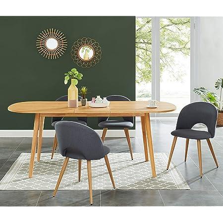 BAITA Marcel Table de séjour Extensible, chêne, 160-200cm