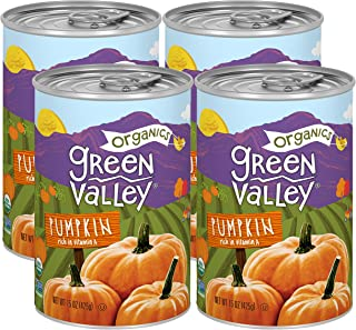 Sponsored Ad - Green Valley Organics Pumpkin | Certified Organic | 100% Dickinson Variety | Sweet Earthy Delicious | Firm ...